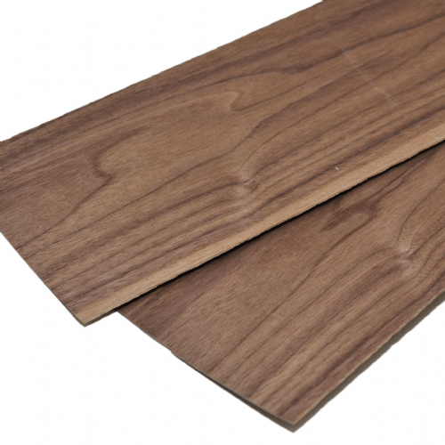 "Walnut veneer 2.4mm . Set of 2 leafs: 22"" x 6"" ( 56 x 15 cm )"